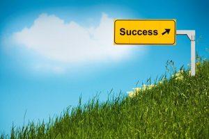Success trend upwards