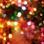 Christmas lights blurry