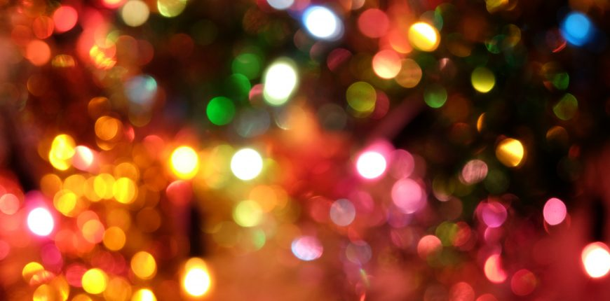 Christmas lights blurry
