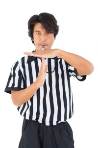 Referee whistle time out